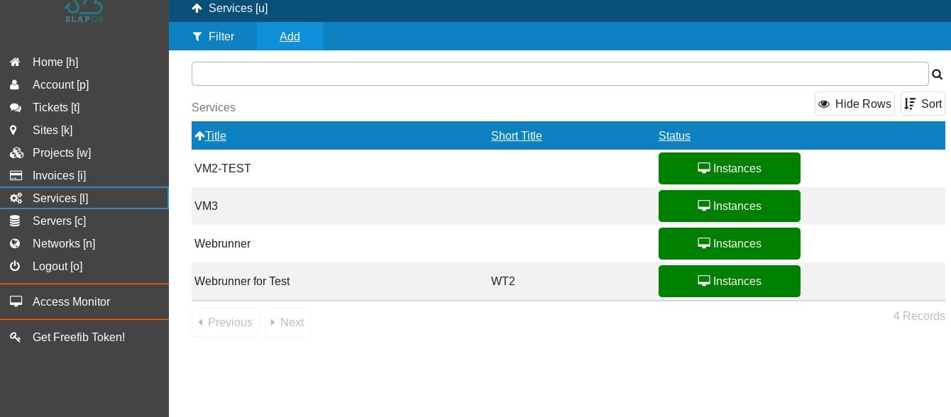 Adding a new service in SlapOS