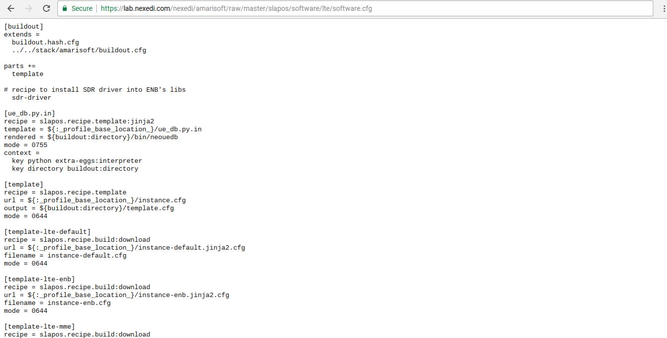Gitlab - Software Release Software.cfg file