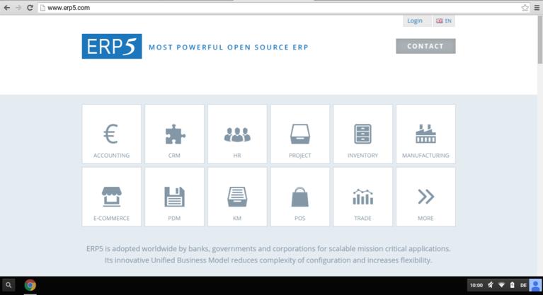 ERP5.com | Screenshot Simplicity Design