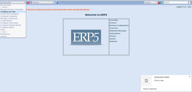 Wendelin-ERP5 Configure Site