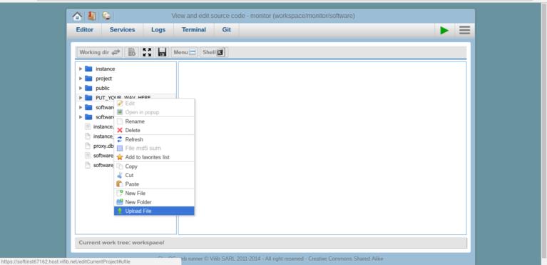 Wendelin-ERP5 Monitor Webrunner File Upload