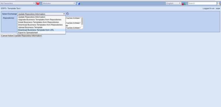 Wendelin ERP5 - Download Business Template