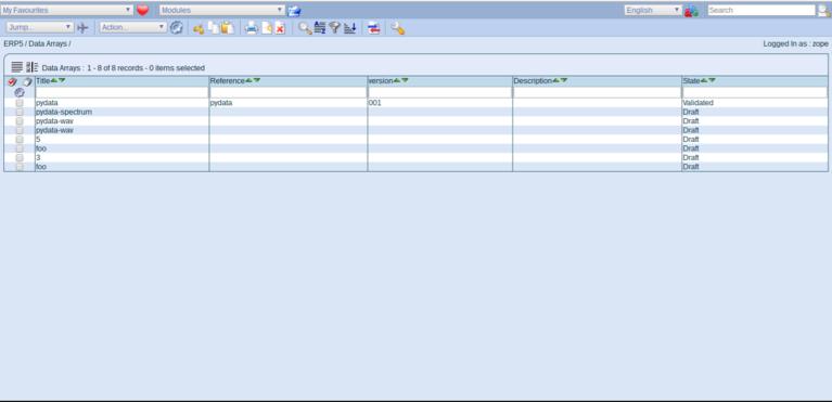 Wendelin-ERP5 - Data Array Module