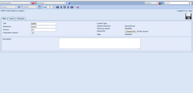 Wendelin-ERP5 - Verify File was received