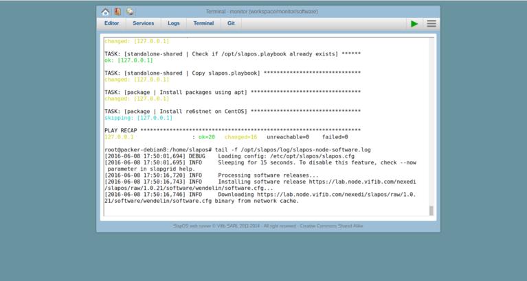 Wendelin-ERP5 Monitor SlapOS Software Log