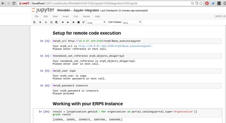 Wendelin Big Data Platform   Screenshot Jupyter Performance Tests