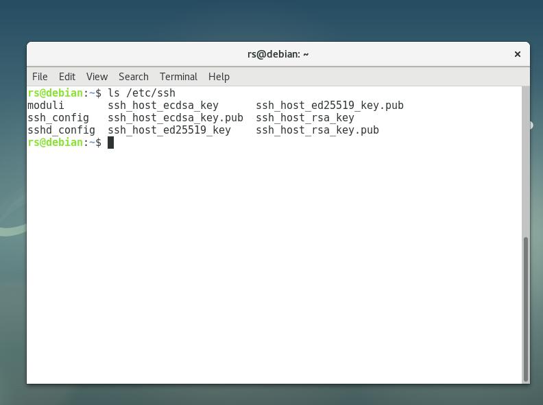 Check contents of /etc/ssh folder