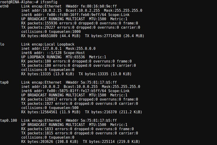 Screenshot: Implementing RINA in SlapOS
