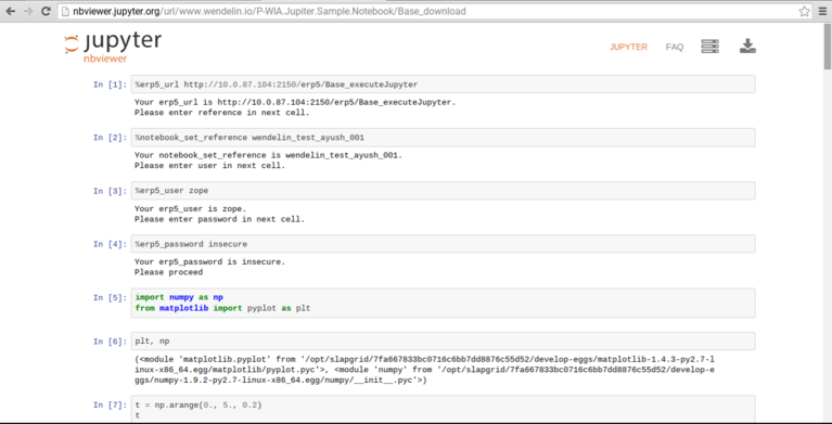 Wendelin | Screenshot Integration Jupyter